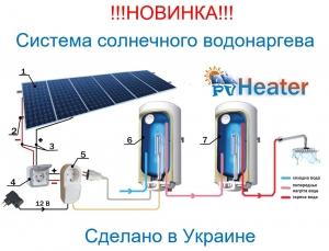 PV Heater. Енергоефективна система сонячного водонагріву